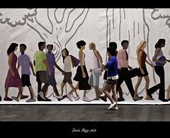 in buona compagnia - in good company (magicoda) Tags: street people italy milan colors girl walking nikon strada italia colours gente milano voyeur passion wife dslr colori lombardia ragazza passione d300 camminare 2013 magicoda davidemaggi maggidavide
