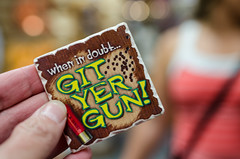 When in doubt, git yer gun magnet (m01229) Tags: unitedstates jackson guns wyoming magnet giftshop d7000