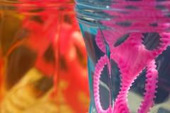 Bubbles (slyinthedam) Tags: pink blue light yellow colours bubbles blow mixture