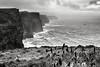 Cliffs of Moher (bgspix) Tags: travel ireland sea blackandwhite bw irish seascape rain weather fog canon landscape coast iso200 eire cliffs 1320 brouillard moher falaises f9 irelande ef24105mmf4lisusm canoneos5dmarkiii