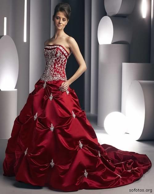 Vestidos de noivas vermelho