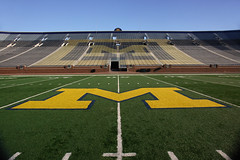 Go Blue (andrewfhart) Tags: usa college sports mi football stadium michigan annarbor 2006 m um ncaa bighouse turf wolverines midfield 50yardline