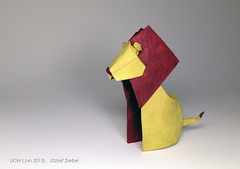 LION (Jun 2013) (Zsebe Origami) Tags: lion paperlion origamilion zsebeorigami paperandform