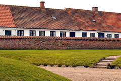 Hold the Line (DANIEL COULMANN) Tags: travel houses roof red green rooftop grass lines wall architecture denmark nikon europe stones bricks sightseeing dk sight ribe d3100