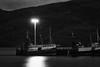 Ullapool Harbor in Scotland (virtualwayfarer) Tags: uk longexposure nightphotography travel light nature water harbor scotland boat town highlands europe unitedkingdom britain scottish roadtrip nightphoto loch fishingboat travelogue ullapool fishingship alexberger travelblogging virtualwayfarer