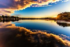 Breaking Dawn (Mi Bob) Tags: color reflection clouds sunrise springlake