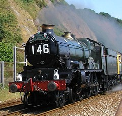 Janey Captures The Torbay Express - 5029 (Sir Hectimere) Tags: steamtrains steamengines britishrailways greatwestern steamlocomotives 5029 nunneycastle castleclass railwaypreservation preservedlocomotives specialtrains teignmouthseawall steamspecials stea