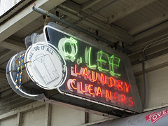 Q. Lee Laundry and Cleaners, New Orleans, LA (Dean Jeffrey) Tags: sign louisiana neon neworleans laundry