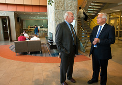 State Sen. Pat McGuire Visit 2 (COD Newsroom) Tags: college campus hotel illinois education senator board pat arts dupage center security glen higher ellyn culinary hospitality homeland mcguire trustees