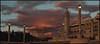 Pink Sunset (Herminio.) Tags: barcelona pink sunset cloud architecture clouds atardecer soleil arquitectura farola tramonto stadium down nubes barcino montjuic montjuïc olimpic tardor fanal olimpico nubols crepuscle estadi barcelonne couchee
