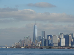 One World Trade Center, October 14, 2013 (NYMAN2010) Tags: newyorkcity fall skyline brooklyn skyscraper skyscrapers spire eastriver manhattanskyline empirestatebuilding wtc woolworthbuilding freedomtower beekmantower oneworldtradecenter fourworldtradecenter