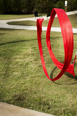 (laurenabishop) Tags: red grass movement wind air ribbon float complements laurenbishop