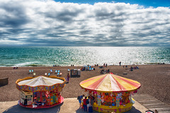 Brighton Beach, UK (CamelKW) Tags: england beach clouds brighton unitedkingdom brightonpier