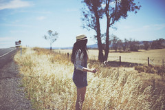 Summer in a Wheat Field (Amanda Mabel) Tags: summer portrait selfportrait australia overalls newsouthwales faceless strawhat wheatfield orangensw amandamabel