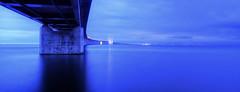 Blue Hour over the Oresund (StephanieB.) Tags: longexposure bridge copenhagen landscape sweden bluehour paysage malm hdr bron oresund danemark sude balticsee denamark expositionlongue copehague sonyslta65