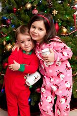 Cozy Christmas Cuddle (Craig's Collection) Tags: christmas boy holiday tree cute girl nikon hug ocf speedlight pajamas cls d90 offcameraflash strobist sb700 sigma1750f28oshsm