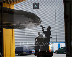 Tufcoat custom shrink wrap covers for Airbus A380 wing5