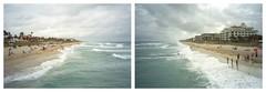 (patrickjoust) Tags: ocean sea usa color film beach water analog america 35mm us focus diptych waves florida cloudy united north patrick rangefinder negative fl states manual joust zuiko olympusxa estados c41 unidos lakeworth kodakgold400 autaut patrickjoust