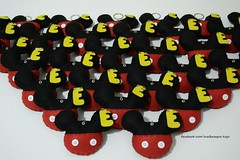 Chaveiros Mickey Mouse (ovelhanegra_toys) Tags: birthday party handmade decoration felt mickey mickeymouse feltro fieltro feltcraft ovelhanegratoys