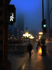 Walk:  Explored 2.8.2014 (michael.veltman) Tags: morning light chicago green weather drive early illinois walk wacker