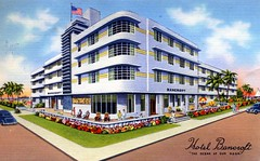 Bancroft Hotel Miami Beach FL (Edge and corner wear) Tags: art beach vintage hotel pc florida miami postcard moderne fl deco streamline