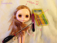 Tutorial pic 1 (Buzzingbumblebee) Tags: opening blythe gaze boggle tutorial customizing correction rbl