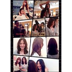 เจอรูปตอนไปเปน#นางแบบทรงผม ที่#ญี่ปุ่น เอามาดูขำๆ~  Just found some pictures  when I was a #hairstyles #model in #Japan  in 2012  by #sophialovelysaelim #โซ ❤️