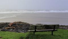 The Sea (gebodogs) Tags: ocean sea oregon bench poem pacific yachats