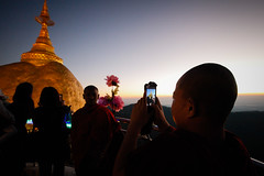 Photo portraits at Kyaiktiyo (Lil [Kristen Elsby]) Tags: topf25 temple pagoda southeastasia burma buddhist monk buddhism editorial myanmar mon topv4444 buddhisttemple kyaiktiyo goldenrock buddhistmonk travelphotography kyaikhtiyo kyaiktyo monstate kyaiktiyopagoda canon5dmarkii myanmar2013