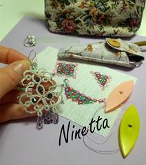 1 of 5 earring (ninettacaruso) Tags: handmade lace earring jewellery tatting chiacchierino