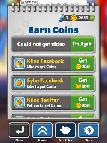 Subway Surfers Virtual currency Bank: screenshots, UI