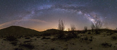 Panorama of the Milky Way above Canyon Sin Nombre in Anza-Borrego Desert State Park (slworking2) Tags: california sky night unitedstates desert astronomy anzaborrego ocotillo milkyway anzaborregodesertstatepark vialactea