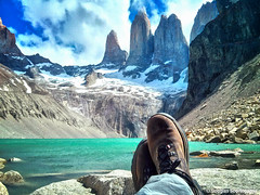 world chile park camera las blue sky patagonia lake man green nature water beautiful del clouds america trekking relax peace phone boots hiking earth walk doug south 4 towers cellphone trail national rest torresdelpaine resting sk feeling douglas geographic nexus timberland torres paine puertonatales elcalafate puntaarenas patagonian southchile scortegagna twittertuesday
