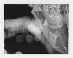 The Veil (Ca$hreno) Tags: film beauty polaroid fuji bokeh epson filmcamera shallowdepthoffield filmphotography blackandwhitefilm instantfilm v700 polaroid195 fp3000b