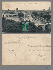 PARIS - Vue prise du Pavillon de Flore (bDom) Tags: paris 1900 oldpostcard cartepostale bdom