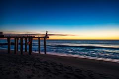 Ocean Grove Sunrise (artkeh) Tags: ocean sky beach sunrise coast pier newjersey shore jerseyshore oceangrove oceangrovenj