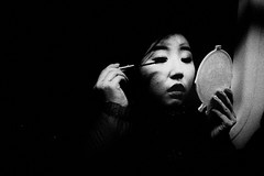 ((Jt)) Tags: blackandwhite girl train subway mirror eyelashes metro flash streetphotography makeup streetportrait korea seoul fujifilm asiangirl koreangirl jtinseoul