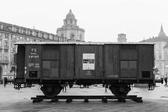 Deportation wagon, Turin, Italy. (Giuseppe Pipia) Tags: world canon torino holocaust war wwii primo levi jews piazza turin castello deportation homosexuals deportazione ebrei omosessuali olocausto 70d