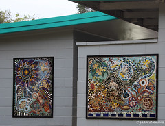 Scotts Head mosaics (J'Adoretotravel) Tags: mosaics australia nsw beachart northernbeaches scottshead seashellart taylorbeach jadoretotravel