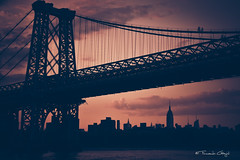 Williamsburg Bridge - NY [EXPLORED] (fgazioli) Tags: nyc travel bridge sunset ny newyork brooklyn landscape nikon bridges nycsunset explored d5300