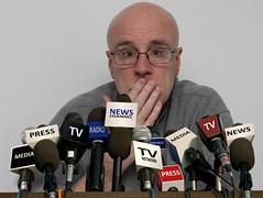 Press Conference (Leo Reynolds) Tags: webthing photofunia xleol30x xxx2015xxx