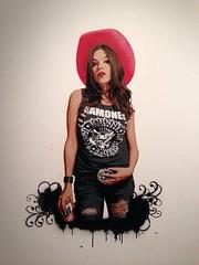 Brava (sbarsiniestro) Tags: black sexy wall stencil ramones cowgirl estencil sbarsiniestro