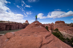Atop Devil's Pocket, The Needles, Canyonlands N.P., Utah (Apr. 2016) (Thomas Cluderay) Tags: camping nature landscape outside outdoors photography utah desert nps hiking canyon backpacking canyonlands backcountry canyons tcluderayphoto