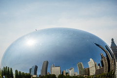 Mother's Day Bean - May 8, 2016 (Flipped Out) Tags: chicago millenniumpark cloudgate anishkapoor