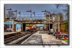 Bury Railway Station (Fermat48) Tags: england station bury platform railway lancashire signals hdr signalbox railtracks gantry thebestofhdr