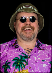 Hawaiian Shirt. (CWhatPhotos) Tags: pictures camera summer sun holiday man color colour male colors hat shirt that lens beard fun photography foot prime hawaii goatee glasses cool shoes colours foto bright image artistic time pics pair hula picture pic olympus images shades wear ox have mans photographs photograph ii fotos mens hawaiian which 45mm mk contain omd hawai hol hawiian em10 cwhatphotos