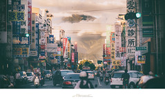 山下 (楚志遠) Tags: nikon g 夕陽 家 f28 f25 ai 天空 105mm 2470mm 傍晚 楚志遠 凍先生