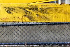 Parking garage #1 (aleadam) Tags: yellow fence garage parking bumper guardrail scratch