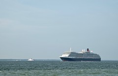 The Queen Victoria from Fort Victoria (Martin P Perry) Tags: cruise ferry ship victoria isleofwight wightlink solent southampton cunard queenvictoria wight fortvictoria