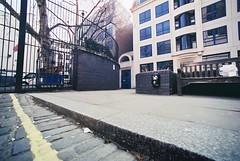 Ripper's Corner (goodfella2459) Tags: colour london history film analog corner 35mm square lens jack nikon edward crime catherine af nikkor 50 mitre whitechapel milf f4 watkins ripper rippers c41 14mm f28d eddowes cinestill